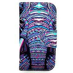 For Samsung Galaxy etui Kortholder / Med stativ / Flip / Magnetisk / Mønster Etui Heldækkende Etui Elefant Kunstlæder Samsung A5