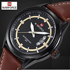 Men's Dress Watch Luxury Brand Design Quartz Watches Miyota Movt Genuine Leather Band Waterproof (Assorted Colors)