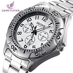 SKONE® Men's Round Dial Alloy Band Quartz Wristwatch (Assorted Colors)