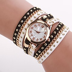 Women's  Small  Round  Dial  Diamante Mushroom Circuit   Flocking  Chain Band Quartz  Watch C&d333