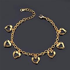 u7® amor charme braclet 18k ouro, platina banhado verdadeiro amor romântico pulseira da moda jóias