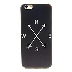 For iPhone 6 etui / iPhone 6 Plus etui Mønster Etui Bagcover Etui Sort og hvid Blødt TPU iPhone 6s Plus/6 Plus / iPhone 6s/6
