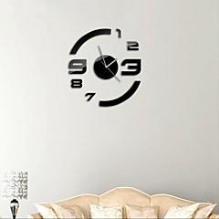 """21 """"de style moderne h bricolage 3D acrylique miroir horloges murales autocollant de surface pour salon de chambre"""