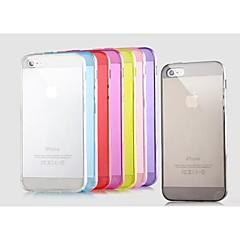 caso suave del tpu color sólido para el iphone 5 / 5c / 5s (colores surtidos)