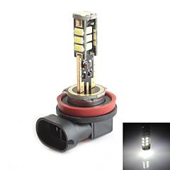 HJ H8 5W 450LM 5500-6000K 15x2835 SMD LED White Light Bulb for Car Brake Light  (12-24V,1 Piece)