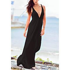 kobiet mody sexy stroje kąpielowe stałe głęboko przeciwko Plażowa bikini strój nosić wakacje długa suknia