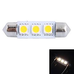 gc® 39mm 0,6 W 50lm 3000K 3x5050 SMD varm hvid førte til bil læsning / nummerplade / dør lys lampe (DC 12V)