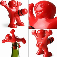 Creative Happy Men Style Plastic Bottle Stopper 9.5*8.5*5.5 cm(3.74*3.35*2.17 inch)