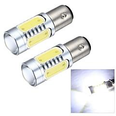 Merdia 1156 7,5 W 600lm cob 4SMD geführt und 1 Kondensorlinse Weißlicht Rückfahrlicht / Bremslicht (12v / pair)