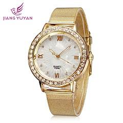 mujeres relojes de moda número romano de oro rosa de diamantes de imitación de cuarzo relojes