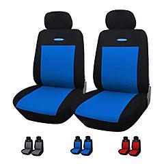 autoyouth 4 peças / set assento de carro cobre fit cinza azul vermelho material de poliéster três milímetros composto esponja universal