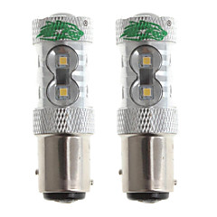 Zweihnder 1157 15W 1400lm 6000-6500K 11x2323 SMD LED White Light Bulb for Car Foglight (12-24V,2 Pieces)