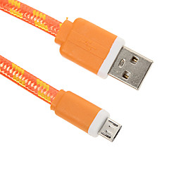 USB 2.0 Mikro USB 2.0 Flad Flettet Kabel Til 15 cm Nylon