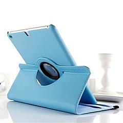 motif de litchi de haute qualité pu protéger étui avec rotation de 360 degrés pour iPad 2/3/4