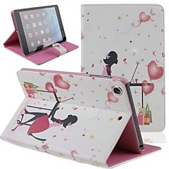 Office Lady Inlaid Shiny Glitter Diamond PU Flip Protective Case Cover with Stand for iPad mini