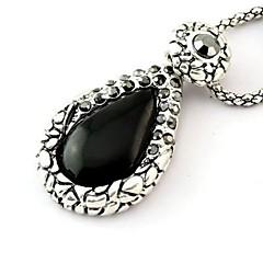 Fashion Retro Alloy Agate Drop Necklaces Random Color