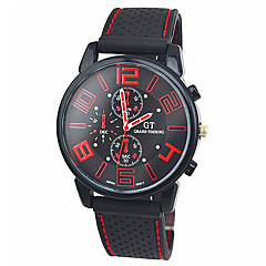 Men's Round Silicone Watch Chinese Movement Movement Type(Assorted Colors) Wrist Watch Cool Watch Unique Watch Fashion Watch