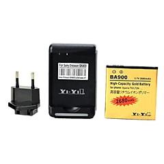 우리가 배터리 충전기를 연결하고 유럽 연합 (EU)이 XPERIA TX / lt29i / 엑스 페리아 L / s36h / ba900에 대한 연결 USB와 이순신 - 이순신 ™ 3.7의 2680mah 배터리