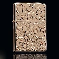 ゾロの金は、ランダムな豊かな花金属銅シェルオイルライタースタイルを刻ん