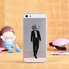 caso padrão criativo padrão TPU transparente macio para iPhone 5 / 5s