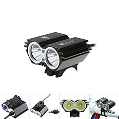 Front Bike Light 5000Lm 2x CREE XM-L T6 LED Head Front Bicycle Lamp Headlamp Headlight