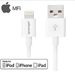 Yellowknife® MFi Certified 8 Pin USB Sync Data/Charging Cable for iPhone 5/5S/6/6 Plus(100cm)