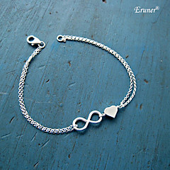Bracelet Charm Bracelet Infinity Alloy Sister Friendship Bracelet Bridesmaid Gift Love Bracelet Jewelry Chain Bracelet Eruner® Heart 1 pc