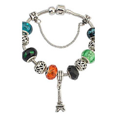 European and American Exotic Eiffel Tower Colorful Bracelet