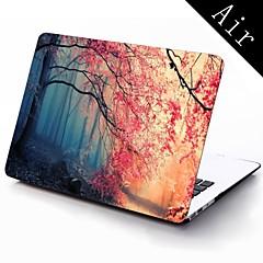 roze herfst bos ontwerp full-body beschermende plastic geval voor 11-inch / 13-inch nieuwe mac book air