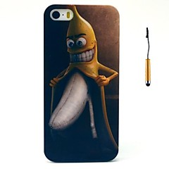o engraçado casca de banana padrão pc difícil caso tampa traseira com caneta de toque para iPhone 5 / 5s
