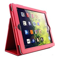 Solid Color Thin PU leather with Stand Auto Sleep and Wake Up for iPad 2/3/4 (Assorted Colors)