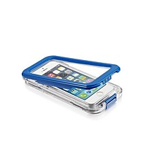 For iPhone 5 etui Vandtæt Transparent Etui Heldækkende Etui Helfarve Hårdt PC for iPhone SE/5s/5