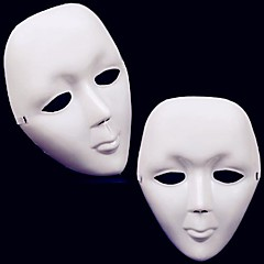 1PCS Halloween White Street Dance Mask with Band(21x15cm)