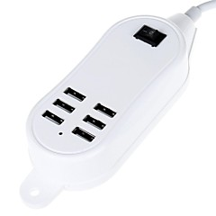 5000mAh 6-porte 30w usb power strip carica del desktop (100 ~ 240V / EU Plug) (lunghezza: 145 centimetri)
