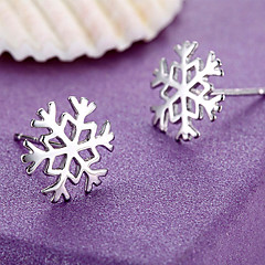 Γυναικεία Κουμπωτά Σκουλαρίκια Ασήμι Στερλίνας Νιφάδα χιονιού Κοσμήματα Για