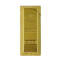 peu de gaz parallélépipède briquet en or