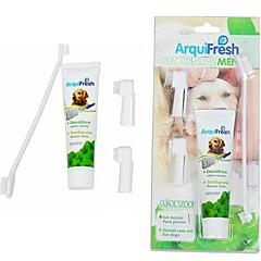 pasta de dientes y cepillo de dientes de limpieza traje para perros