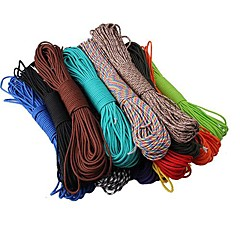 Outdoor Survival Multi-Function Nylon Rope 100FT 550lb Nylon Paracord Parachute Cord String Rope for Camping Hiking Survival