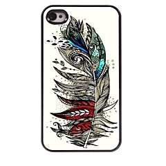 Colorful Feather Design Aluminum Case for iPhone 4/4S