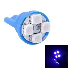 gc® t10 4w 120lm 4 × 3528 SMD LED blåt lys til bil instrument lys / dør / trunk lamper (DC 12V)