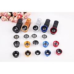 "5in1 Fish Eye+2X Wide Angle+Macro Lens Kit Polarizer for iPhone 6 4.4""/5.5"" Nexus 4 HTC Samsung Sony etc."