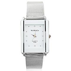 Mujer Reloj de Vestir Reloj de Moda Reloj de Pulsera Cuarzo Aleación Banda Plata Marca