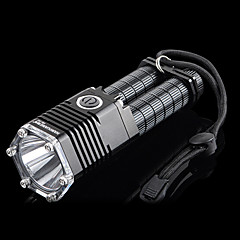 HanGuang T07 Rechargeable 5-Mode 1x Cree T6 LED Flashlight(800LM, 2x18650, Black)
