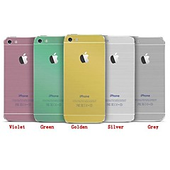 In Imitation of Metal Wire Drawing Scrub Body Mask for iPhone 4/4S(Assorted Colors)