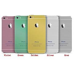 i imitation av metalltråd ritning scrub kroppsmask för iPhone 4 / 4S (blandade färger)