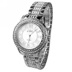 Women's Set auger Round Dial  Steel Band Quartz Wrist Watch
