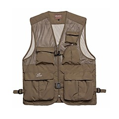 Tectop Men's Polyester Khaki and Army Green Colors Waterproof Vest Fishing Waistcoat