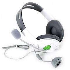 bianchi altoparlanti di alta qualità Surround Gaming cuffia auricolare stereo auricolare con il micphone per xbox 360 mic per x360
