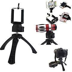 draagbare hoge kwaliteit camera statief houder met mobiele telefoon houder voor de iPhone, Samsung en anderen