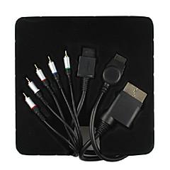 1,8 5.904ft 4 i 1 HDMI-kabel all-konsol komponent audio video ledning til Wii xbox360 ps2 ps3
